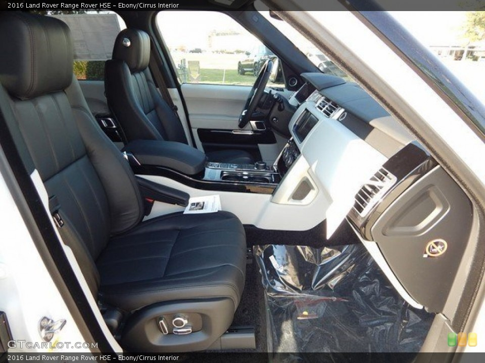 Ebony/Cirrus Interior Front Seat for the 2016 Land Rover Range Rover HSE #109242530