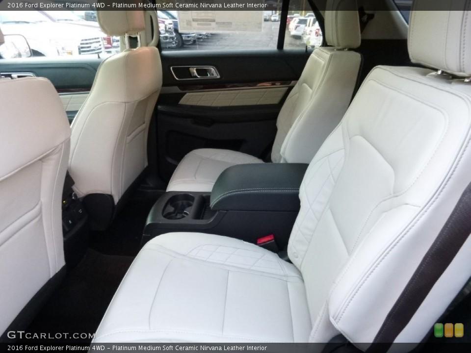 Platinum Medium Soft Ceramic Nirvana Leather Interior Rear Seat for the 2016 Ford Explorer Platinum 4WD #109347350