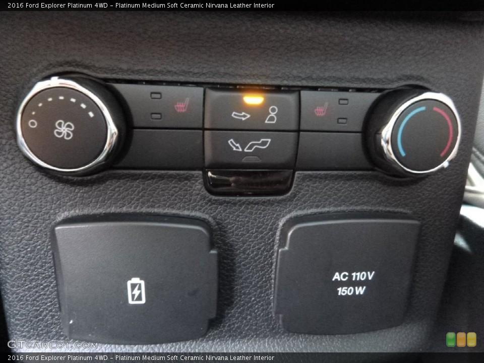 Platinum Medium Soft Ceramic Nirvana Leather Interior Controls for the 2016 Ford Explorer Platinum 4WD #109347371