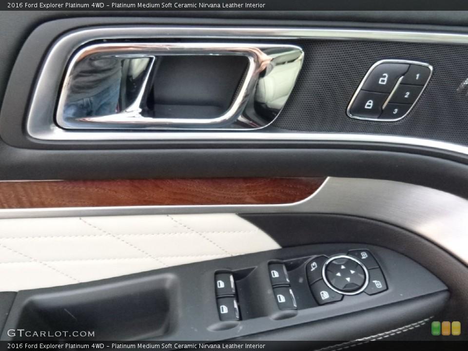 Platinum Medium Soft Ceramic Nirvana Leather Interior Controls for the 2016 Ford Explorer Platinum 4WD #109347416