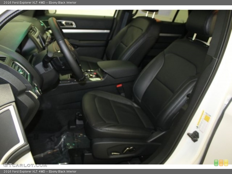 Ebony Black Interior Front Seat for the 2016 Ford Explorer XLT 4WD #109369790