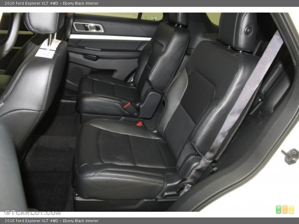 Ebony Black Interior Rear Seat for the 2016 Ford Explorer XLT 4WD #109369802