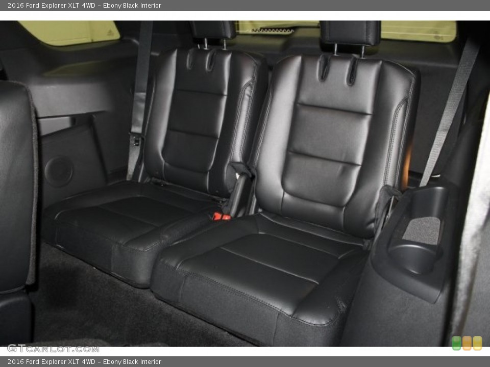 Ebony Black Interior Rear Seat for the 2016 Ford Explorer XLT 4WD #109369811