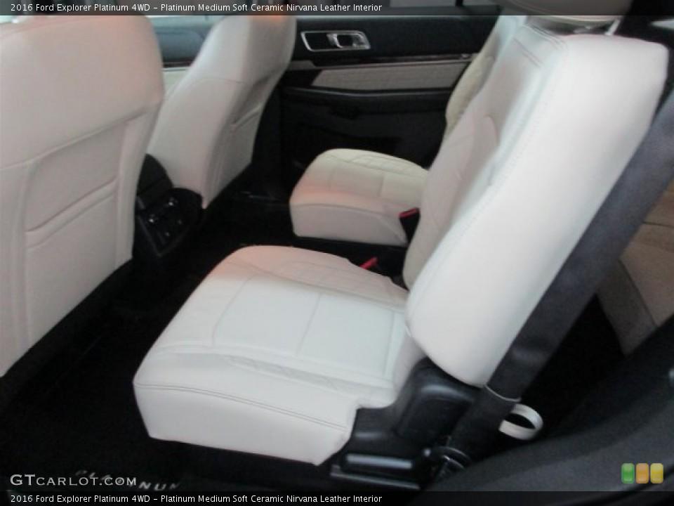 Platinum Medium Soft Ceramic Nirvana Leather Interior Rear Seat for the 2016 Ford Explorer Platinum 4WD #109404388