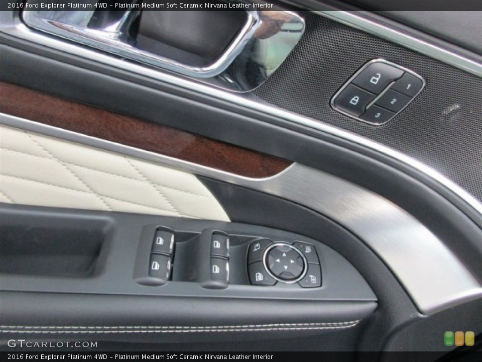 Platinum Medium Soft Ceramic Nirvana Leather Interior Controls for the 2016 Ford Explorer Platinum 4WD #109404427