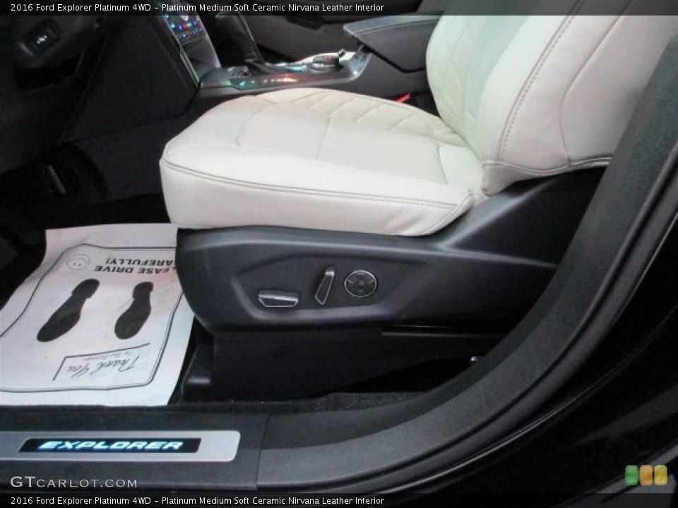 Platinum Medium Soft Ceramic Nirvana Leather Interior Front Seat for the 2016 Ford Explorer Platinum 4WD #109404448