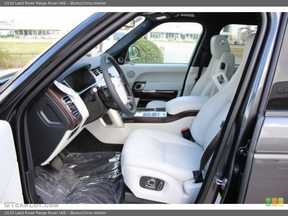 Ebony/Cirrus Interior Front Seat for the 2016 Land Rover Range Rover HSE #109408615