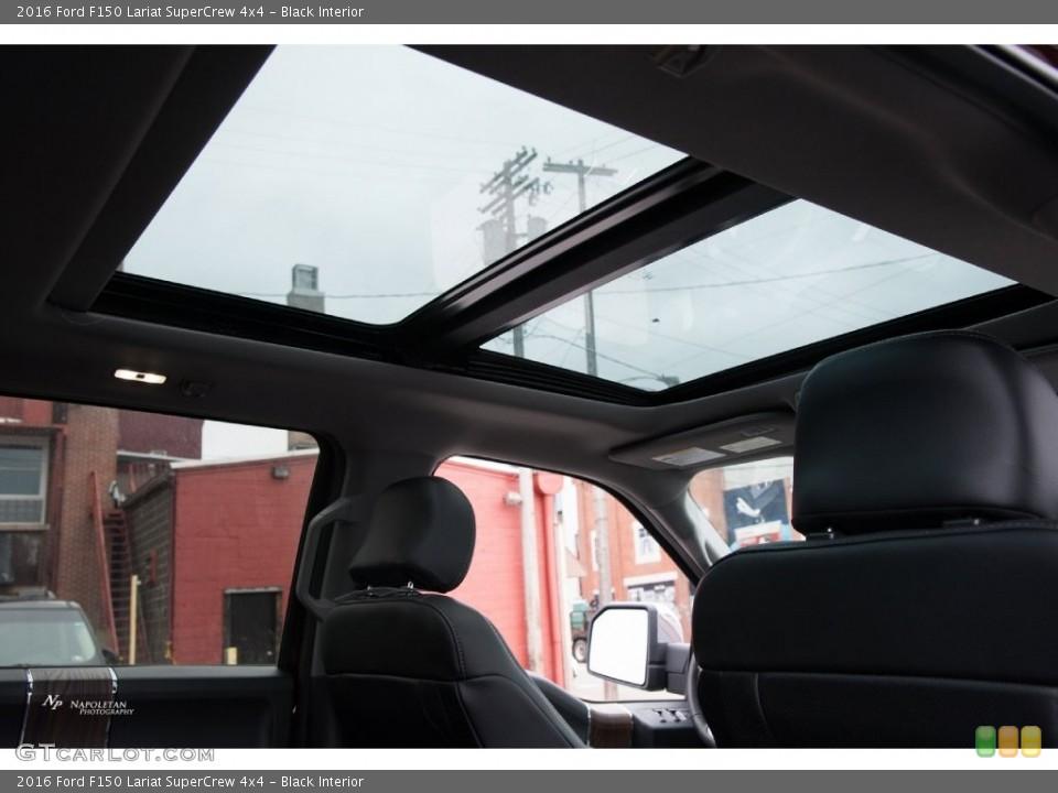 Black Interior Sunroof for the 2016 Ford F150 Lariat SuperCrew 4x4 #109448826