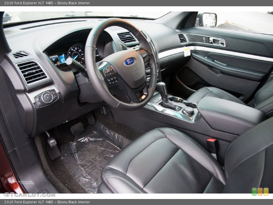 Ebony Black Interior Prime Interior for the 2016 Ford Explorer XLT 4WD #109702446