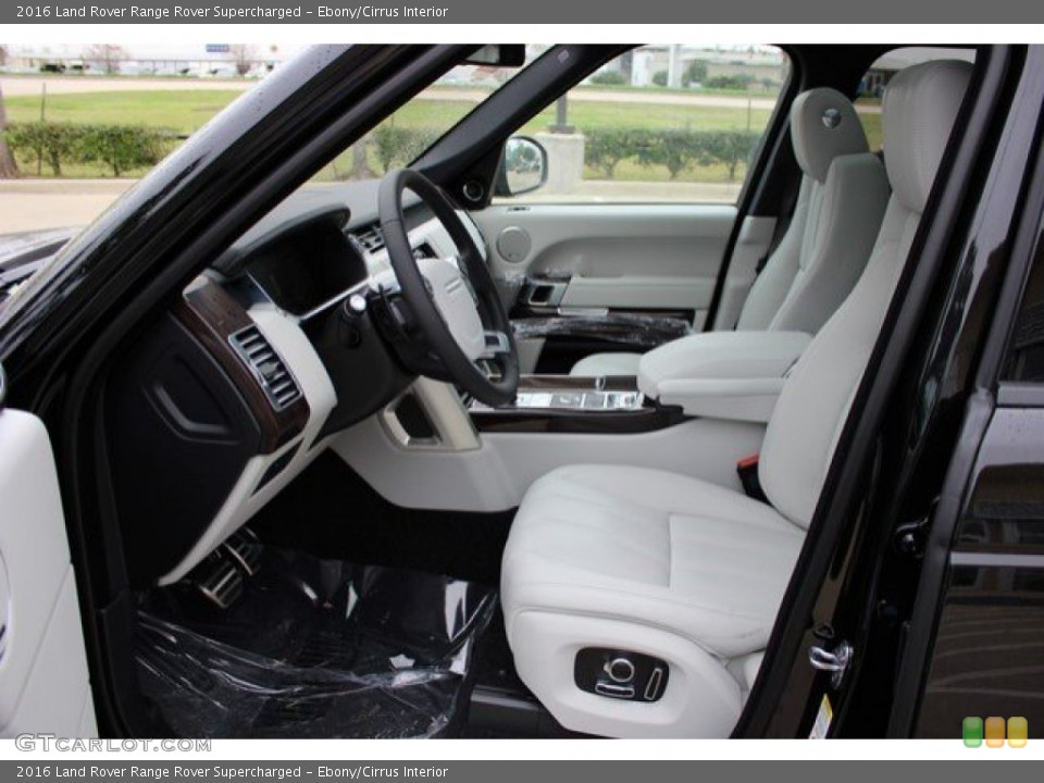 Ebony/Cirrus Interior Photo for the 2016 Land Rover Range Rover Supercharged #109797773