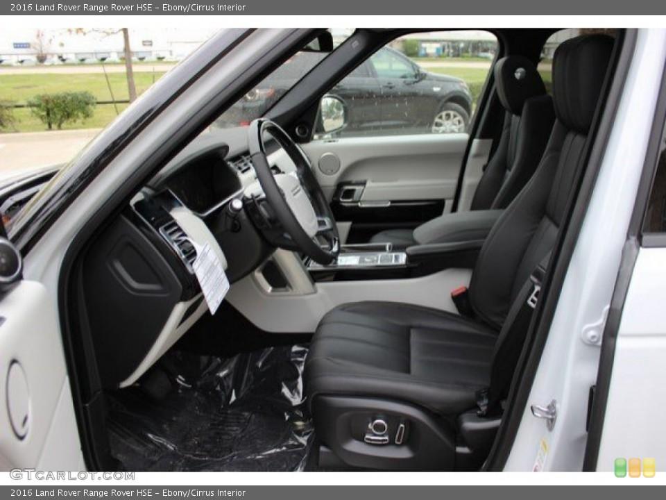 Ebony/Cirrus Interior Photo for the 2016 Land Rover Range Rover HSE #109799313