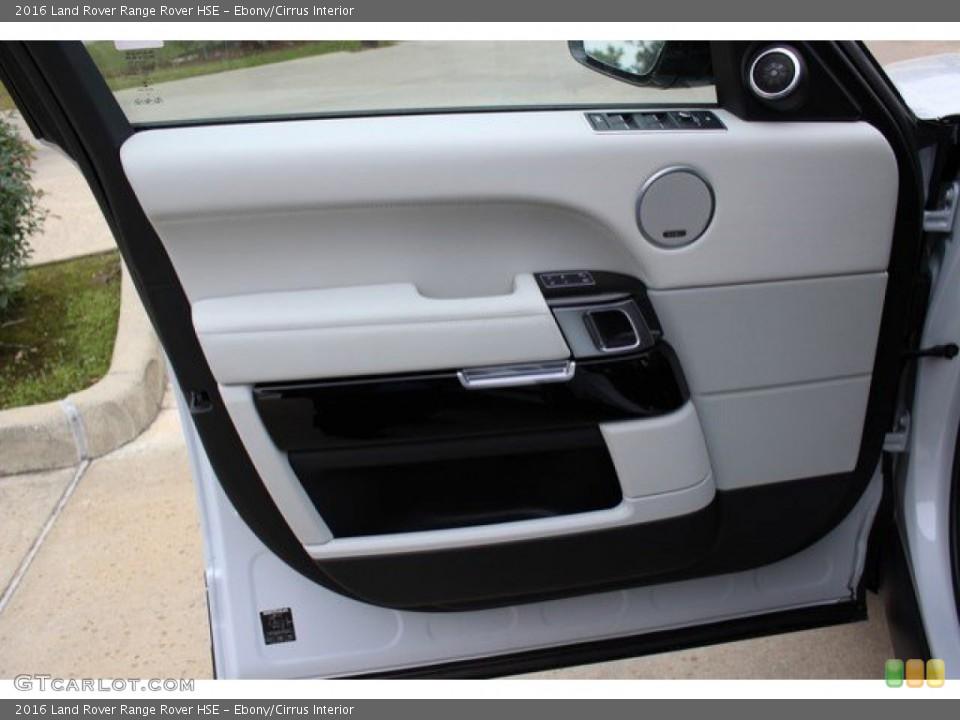 Ebony/Cirrus Interior Door Panel for the 2016 Land Rover Range Rover HSE #109799709