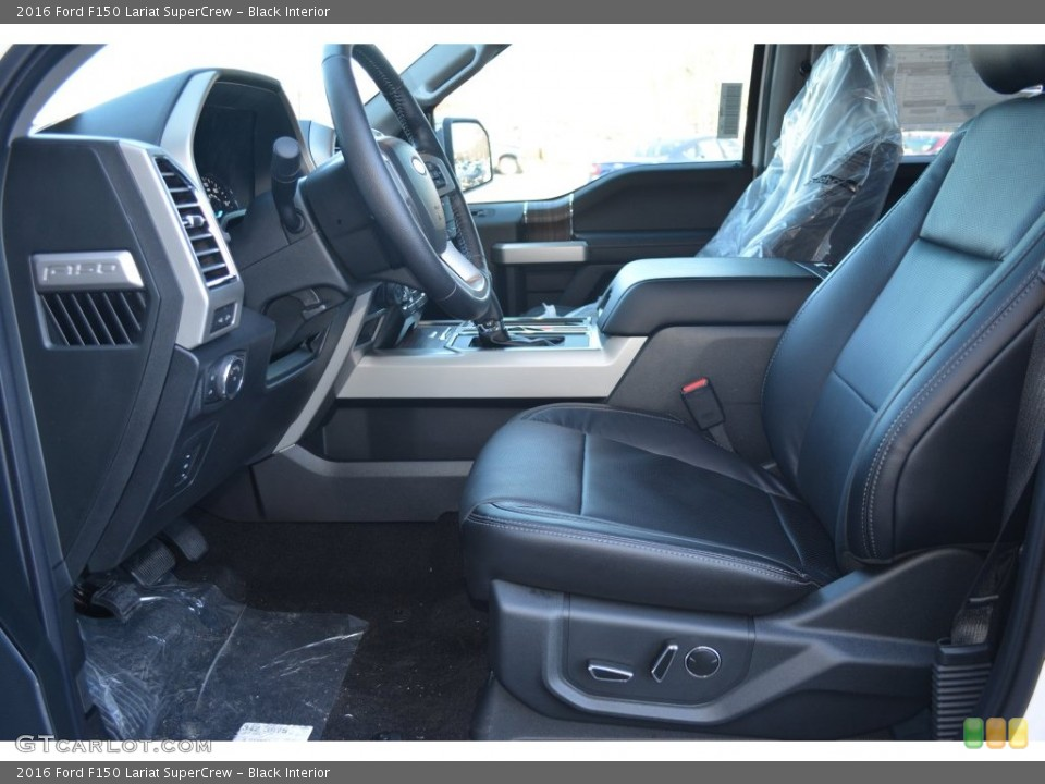 Black Interior Front Seat for the 2016 Ford F150 Lariat SuperCrew #109821228