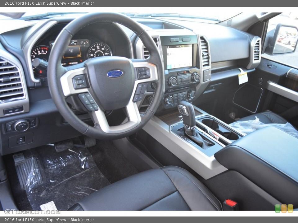 Black Interior Prime Interior for the 2016 Ford F150 Lariat SuperCrew #109821246