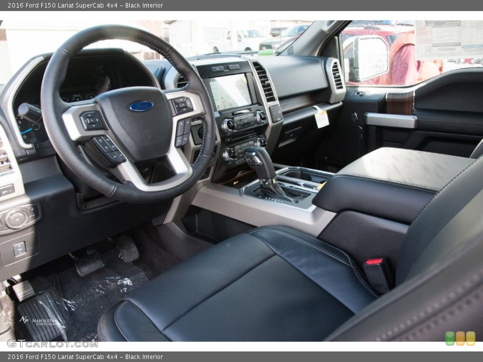 Black 2016 Ford F150 Interiors