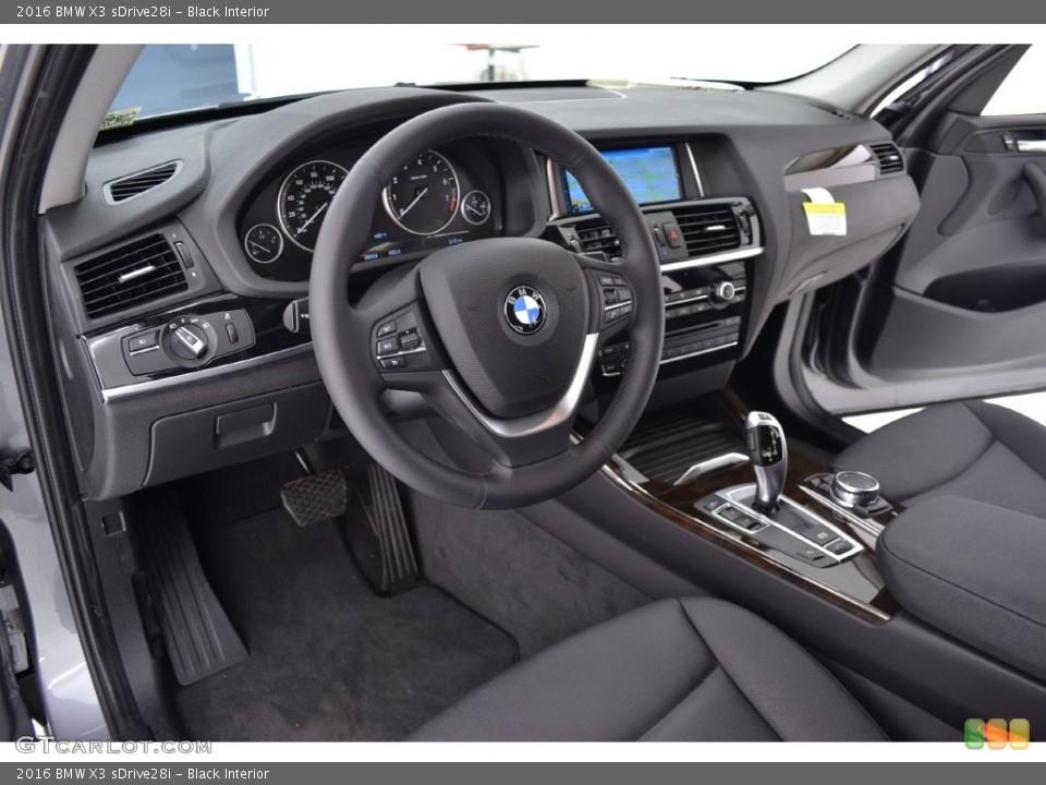Black Interior Photo for the 2016 BMW X3 sDrive28i #110063866