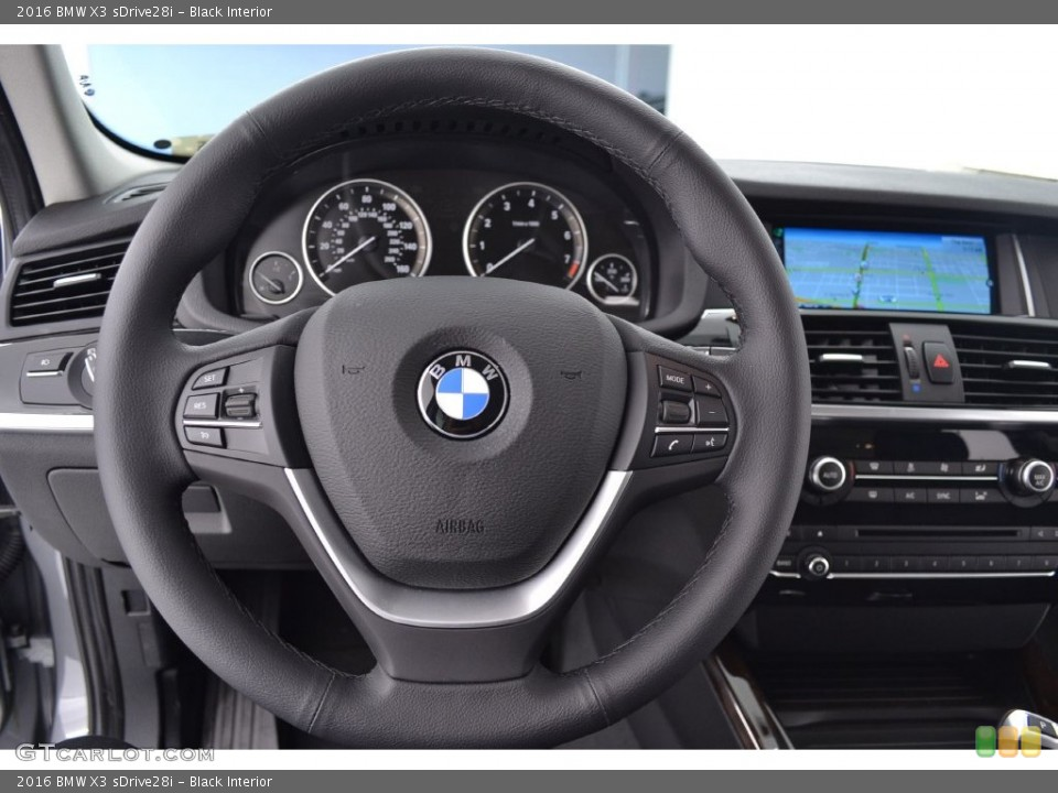 Black Interior Steering Wheel for the 2016 BMW X3 sDrive28i #110064090