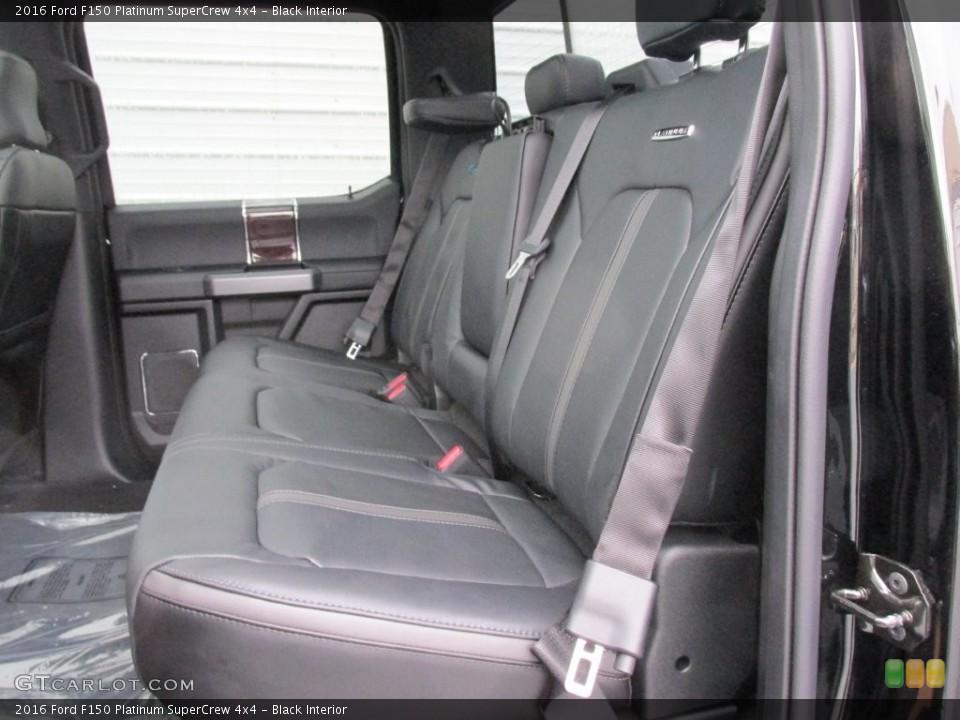 Black Interior Rear Seat for the 2016 Ford F150 Platinum SuperCrew 4x4 #110091263