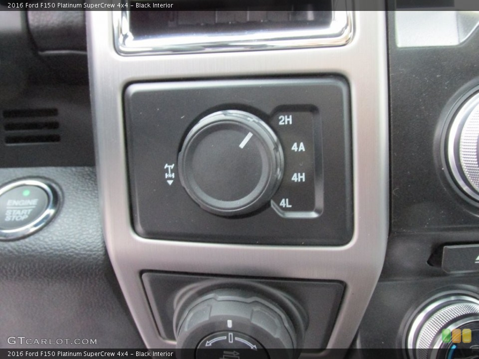 Black Interior Controls for the 2016 Ford F150 Platinum SuperCrew 4x4 #110091542