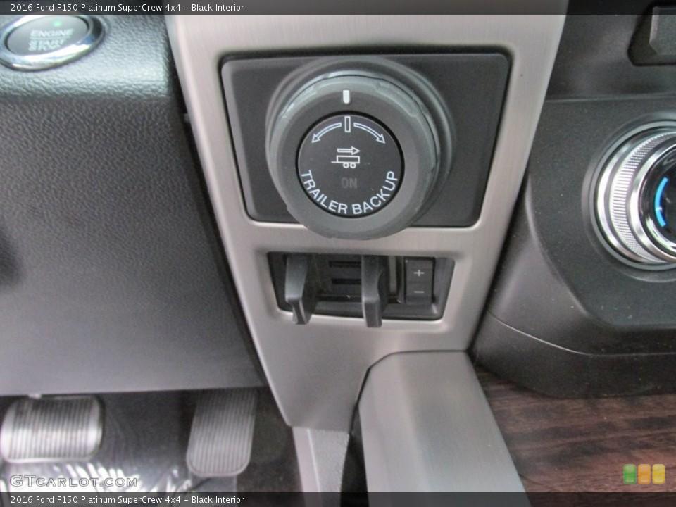 Black Interior Controls for the 2016 Ford F150 Platinum SuperCrew 4x4 #110091563