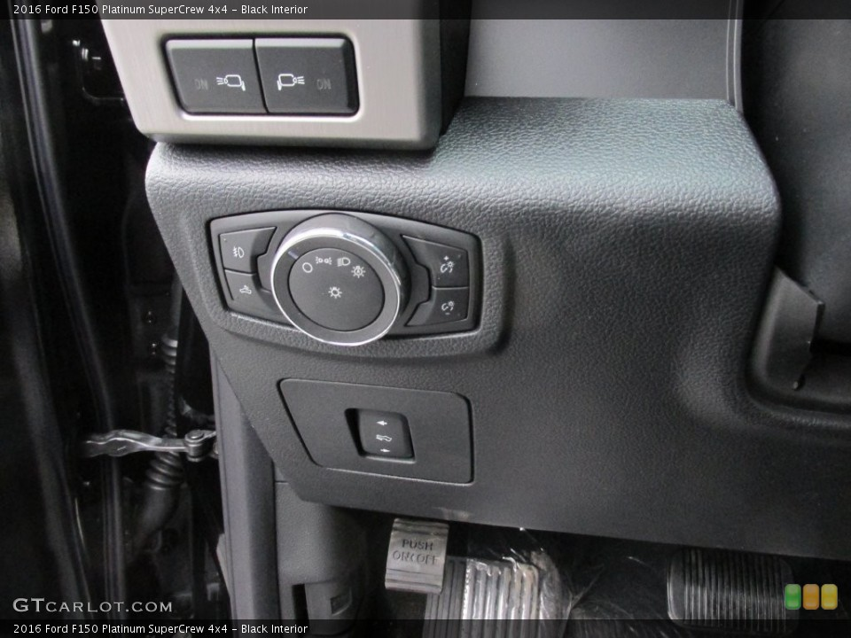 Black Interior Controls for the 2016 Ford F150 Platinum SuperCrew 4x4 #110091680