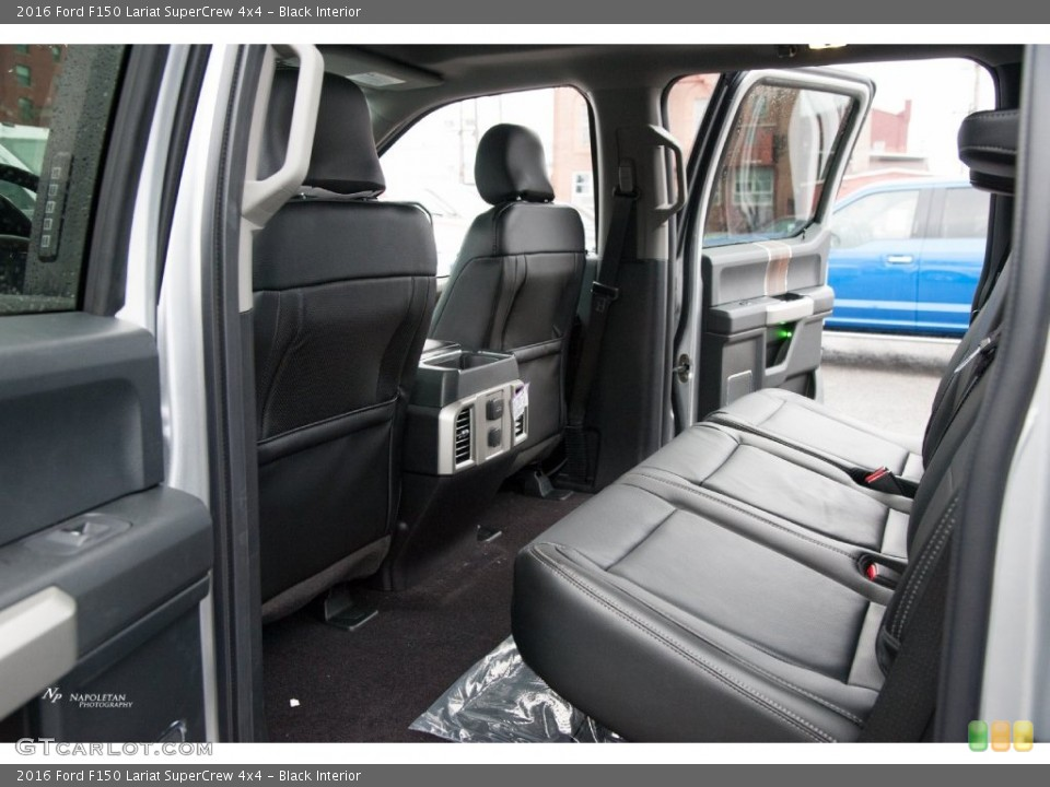 Black Interior Rear Seat for the 2016 Ford F150 Lariat SuperCrew 4x4 #110119205