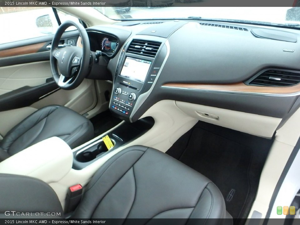 Espresso/White Sands Interior Photo for the 2015 Lincoln MKC AWD #110147503