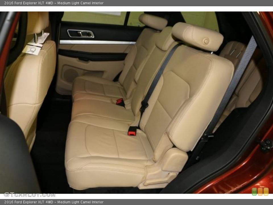 Medium Light Camel Interior Rear Seat for the 2016 Ford Explorer XLT 4WD #110220397