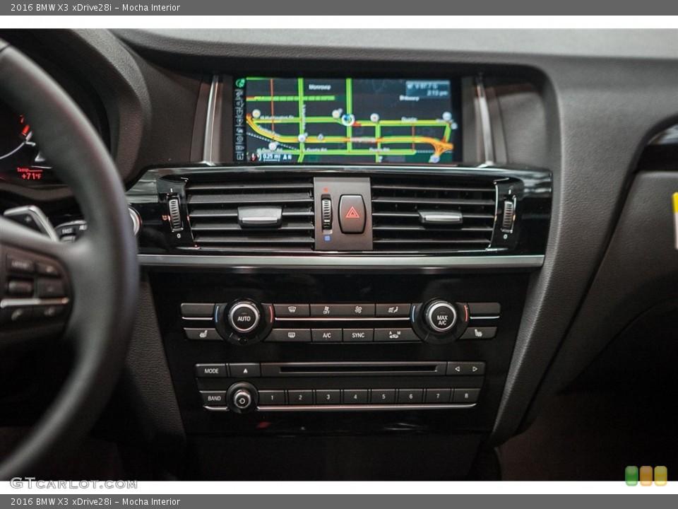 Mocha Interior Controls for the 2016 BMW X3 xDrive28i #110944985