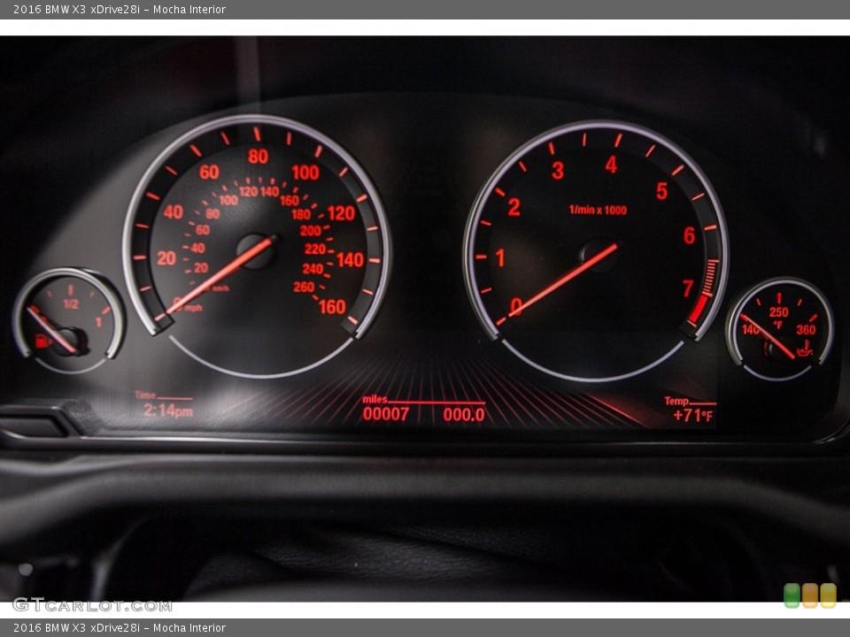 Mocha Interior Gauges for the 2016 BMW X3 xDrive28i #110945090