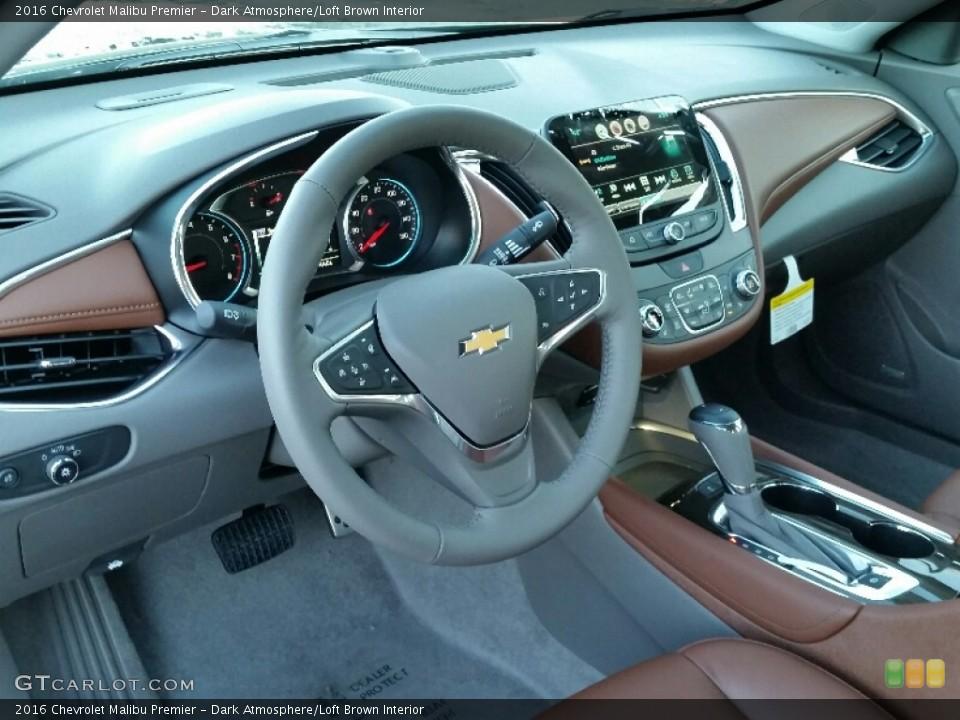 Dark Atmosphere/Loft Brown 2016 Chevrolet Malibu Interiors