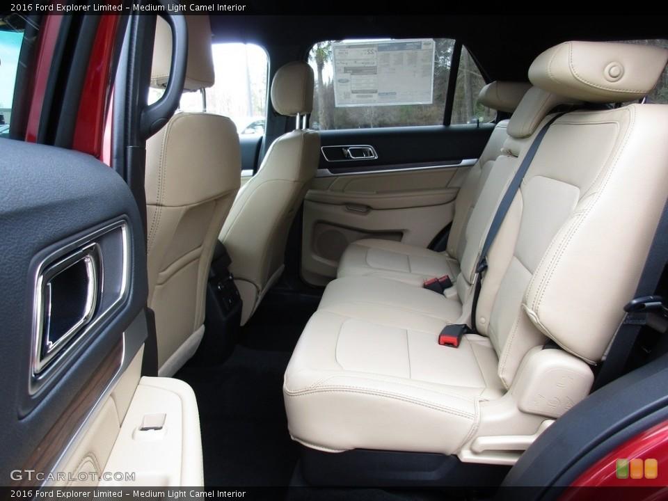 Medium Light Camel Interior Rear Seat for the 2016 Ford Explorer Limited #111162802