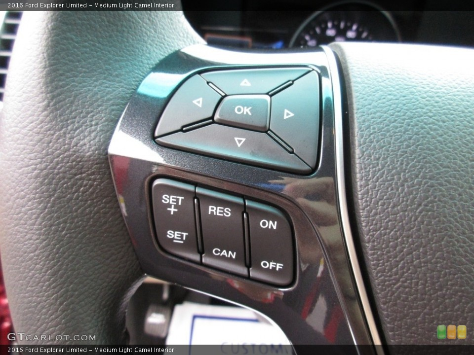 Medium Light Camel Interior Controls for the 2016 Ford Explorer Limited #111163141