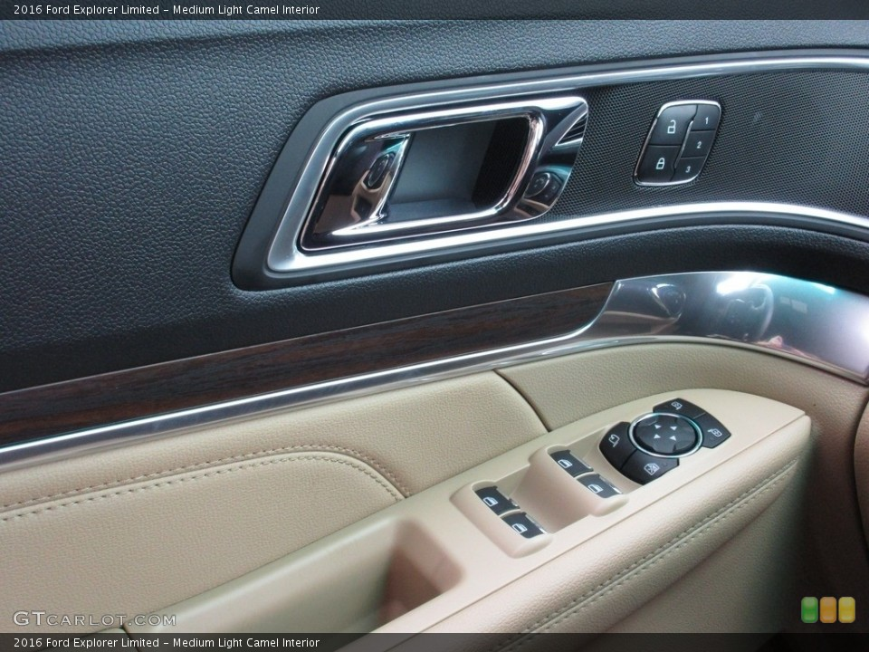 Medium Light Camel Interior Controls for the 2016 Ford Explorer Limited #111163192