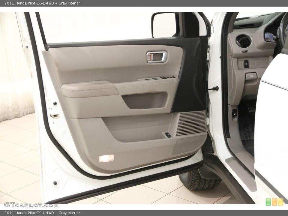 Gray Interior Door Panel for the 2011 Honda Pilot EX-L 4WD #111192587