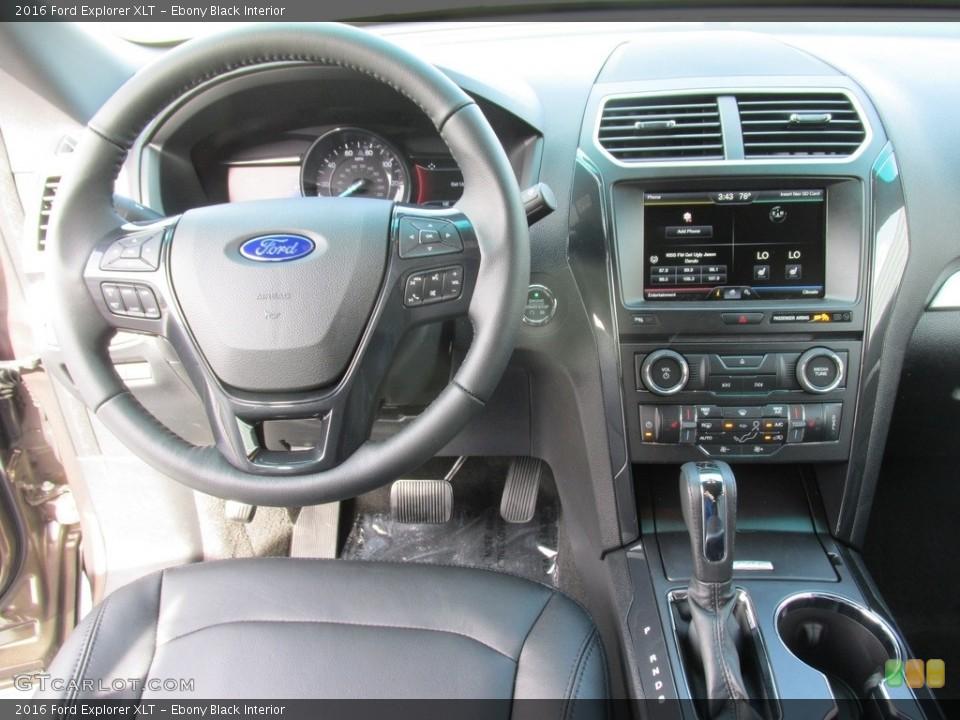 Ebony Black Interior Photo for the 2016 Ford Explorer XLT #111348534