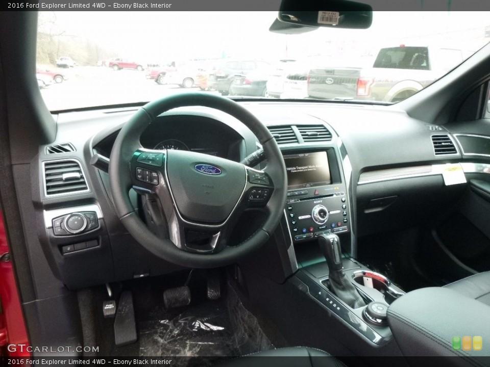 Ebony Black Interior Prime Interior for the 2016 Ford Explorer Limited 4WD #111399928