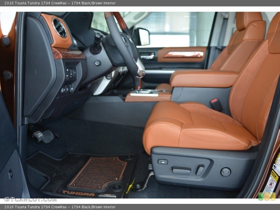 1794 Black/Brown Interior Front Seat for the 2016 Toyota Tundra 1794 CrewMax #111571891