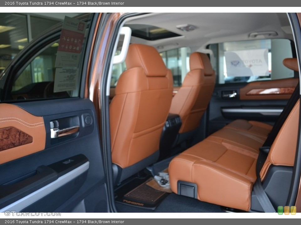 1794 Black/Brown Interior Rear Seat for the 2016 Toyota Tundra 1794 CrewMax #111571946