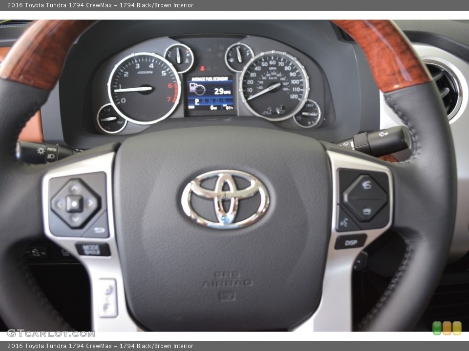 1794 Black/Brown Interior Steering Wheel for the 2016 Toyota Tundra 1794 CrewMax #111572078