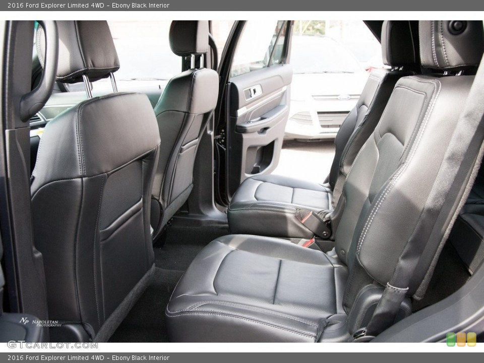 Ebony Black Interior Rear Seat for the 2016 Ford Explorer Limited 4WD #111740044