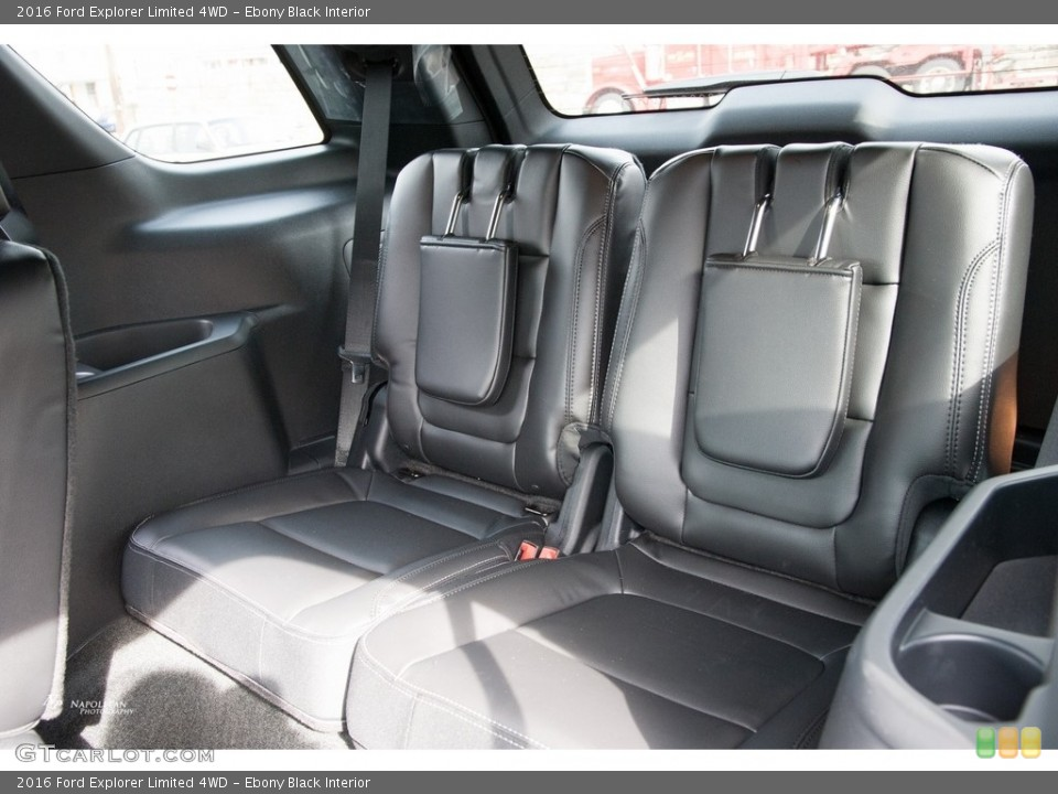 Ebony Black Interior Rear Seat for the 2016 Ford Explorer Limited 4WD #111740077