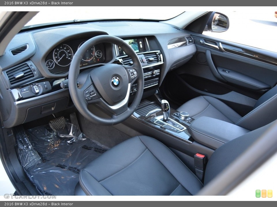 Black 2016 BMW X3 Interiors