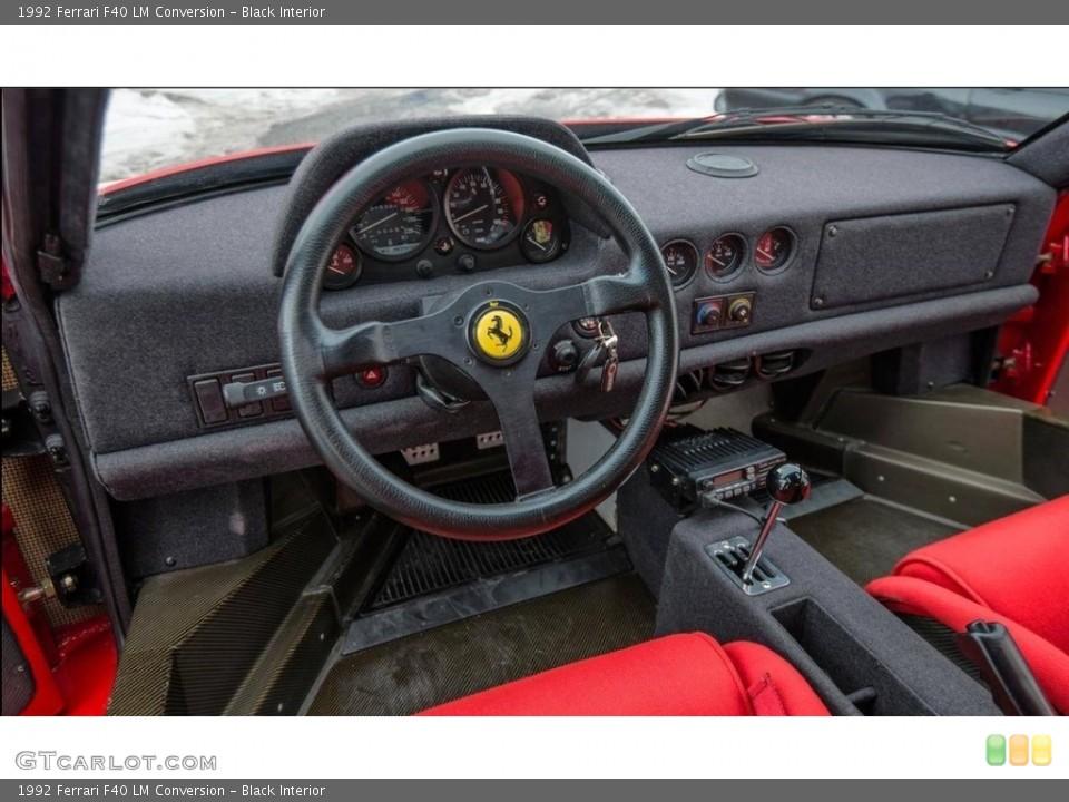Black Interior Dashboard for the 1992 Ferrari F40 LM