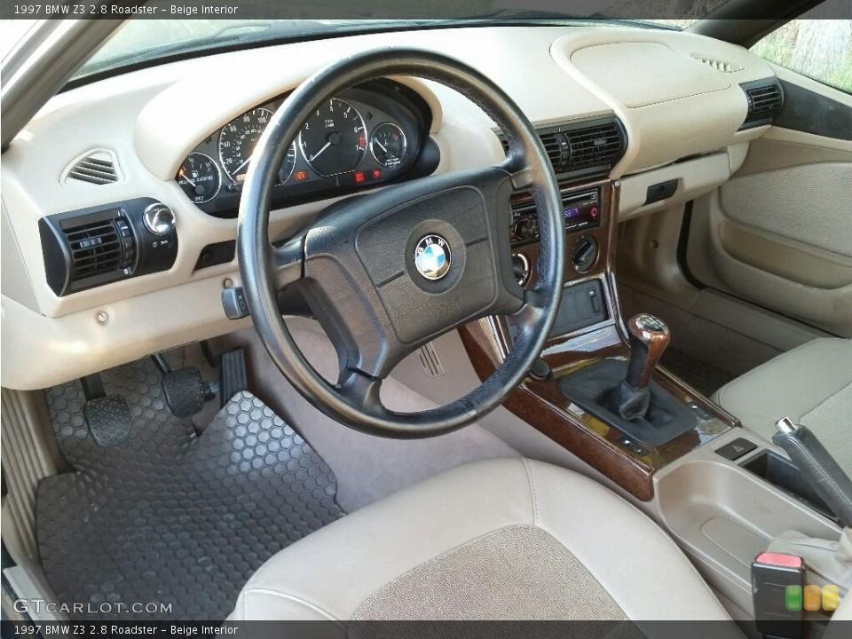 Beige Interior Prime Interior for the 1997 BMW Z3 2.8 Roadster #112321644