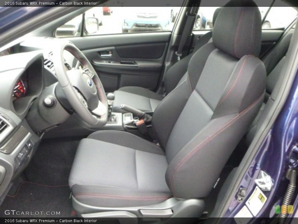 Carbon Black Interior Photo for the 2016 Subaru WRX Premium #112761182