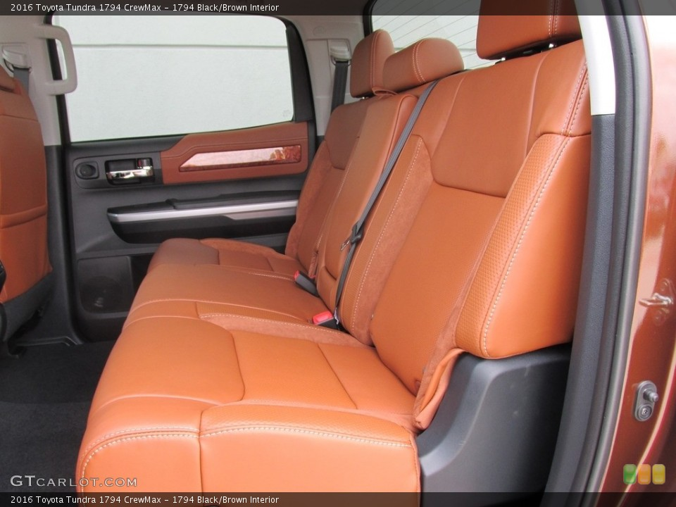 1794 Black/Brown Interior Rear Seat for the 2016 Toyota Tundra 1794 CrewMax #112888239