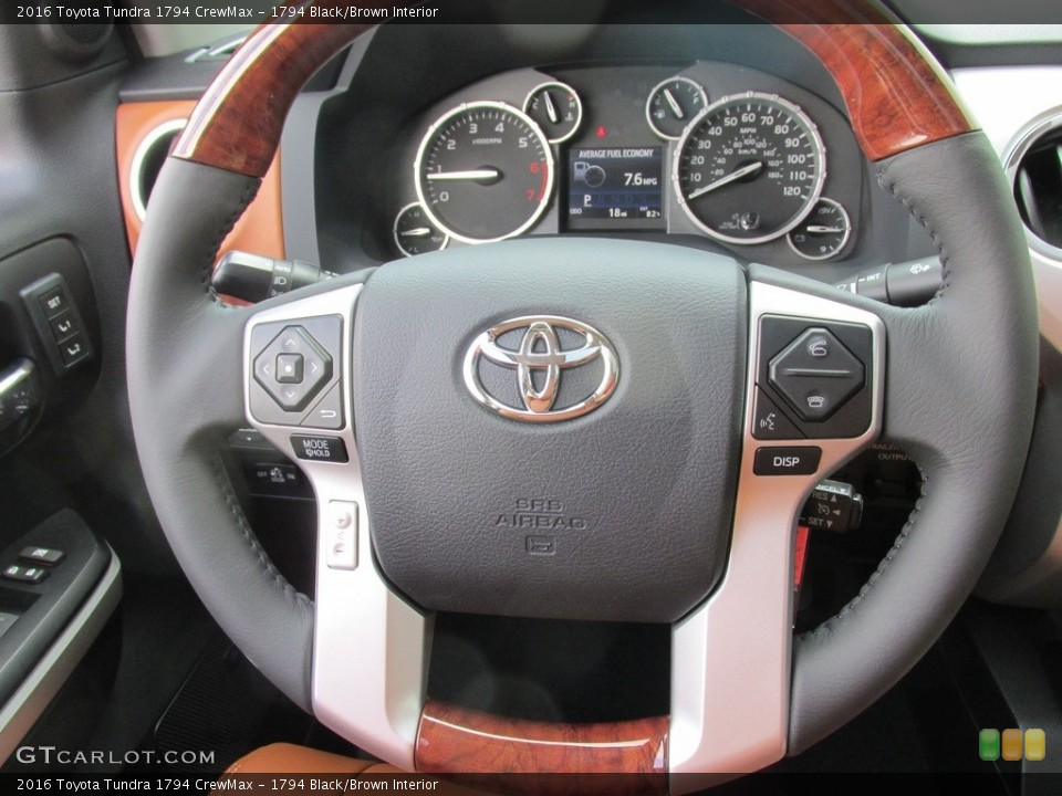1794 Black/Brown Interior Steering Wheel for the 2016 Toyota Tundra 1794 CrewMax #112888529