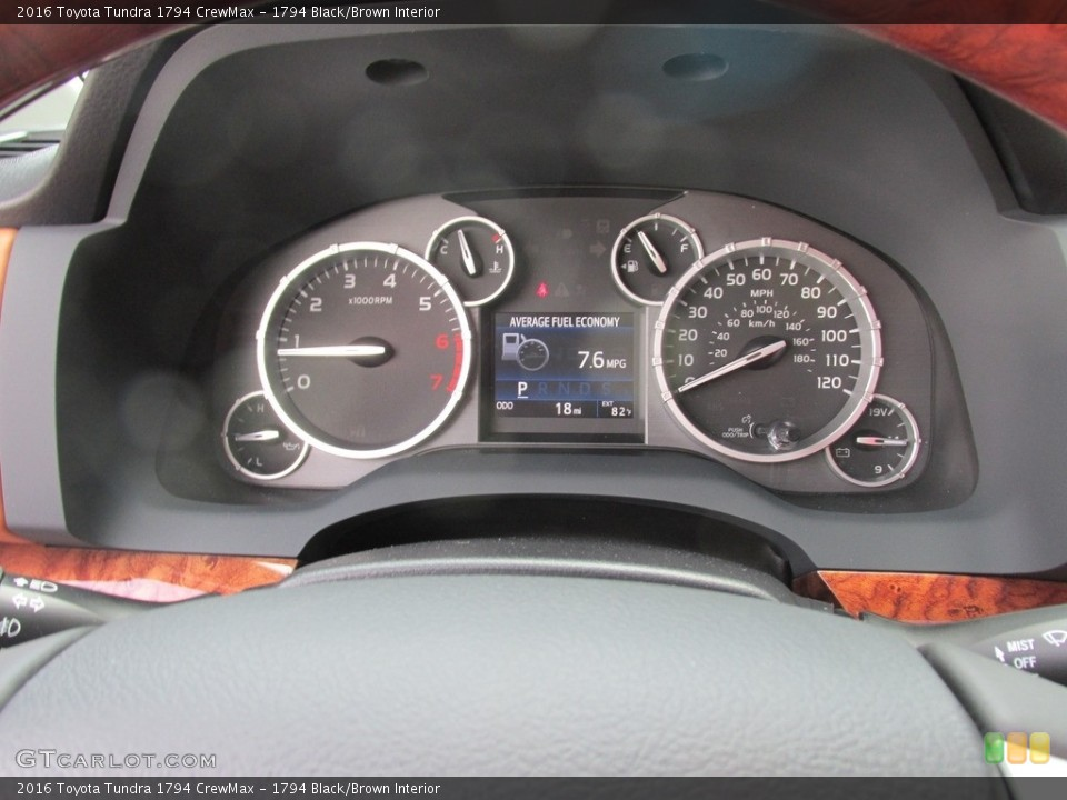1794 Black/Brown Interior Gauges for the 2016 Toyota Tundra 1794 CrewMax #112888545