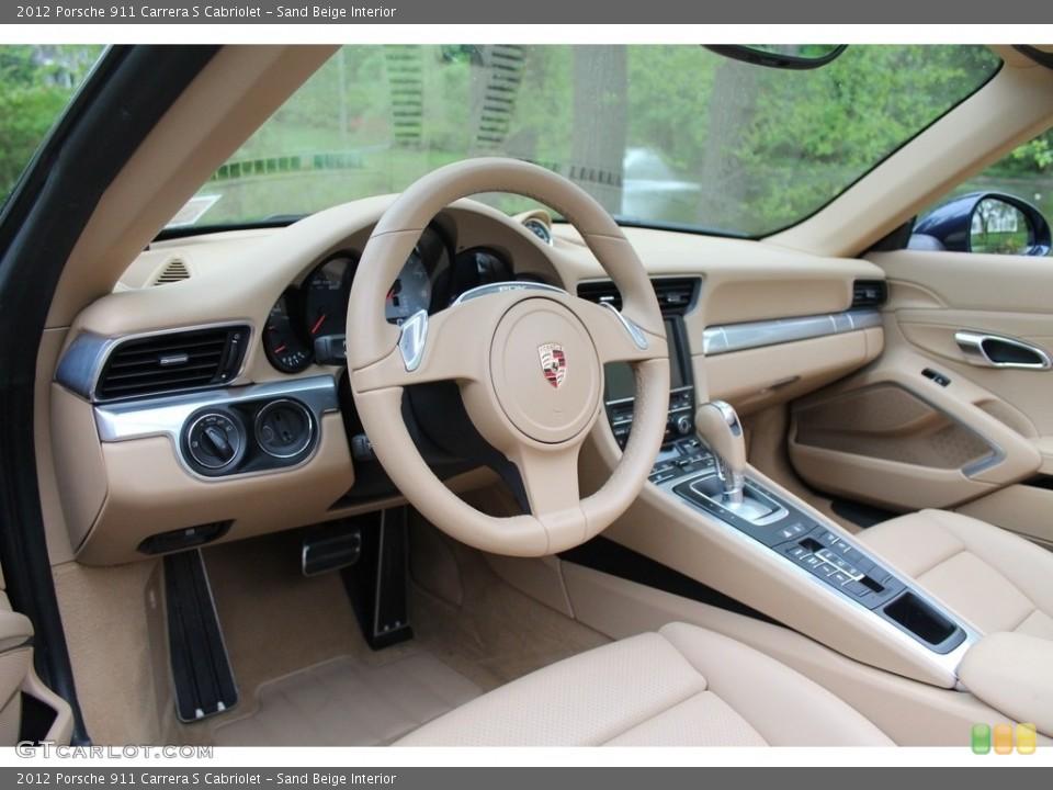 Sand Beige 2012 Porsche 911 Interiors